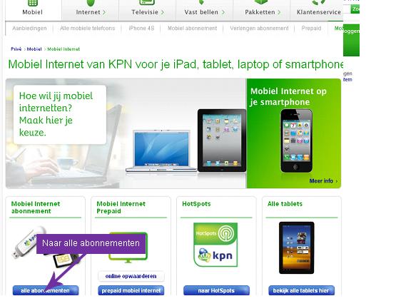 internet mobiel kpn
